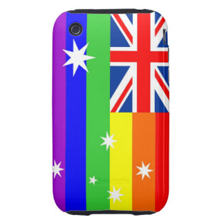 australia country gay proud rainbow flag tough iPhone 3 cover