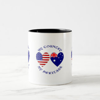 Australia Country Heritage Two-Tone Coffee Mug