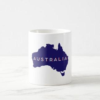 Australia Country Silhouette Classic White Coffee Mug