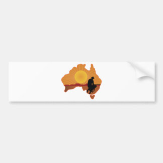 Australia Cowboy Bumper Sticker