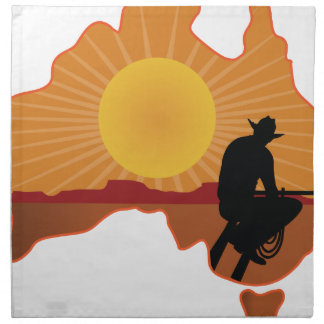 Australia Cowboy Cloth Napkin