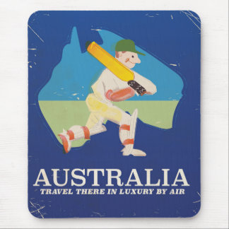 Australia Cricket Vintage travel poster Mouse Pad