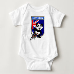 Baby Jersey Bodysuit with Australia Cycling Panda design