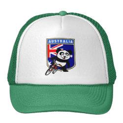 Trucker Hat with Australia Cycling Panda design