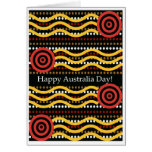 Australia Day Greeting Card, Aboriginal Dot Design