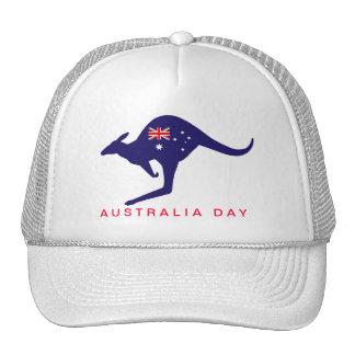 AUSTRALIA DAY KANGAROO FLAG CAP TRUCKER HAT