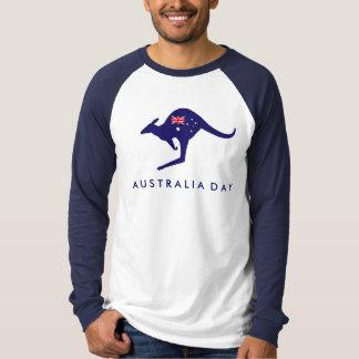 AUSTRALIA DAY KANGAROO FLAG TSHIRT