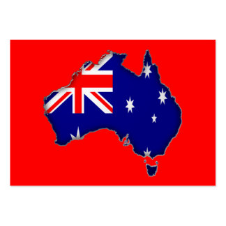 Australia Day Large Business Card