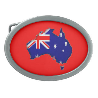 Australia Day Oval Belt Buckles