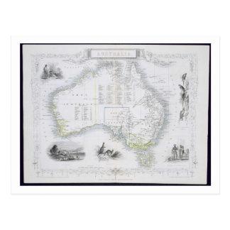 Australia, de una serie de mapas del mundo publicó postales