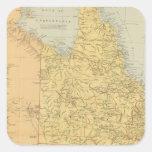 Australia del este pegatina cuadrada