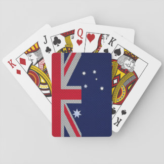 Australia Design in Carbon Fiber Chrome Style Playing Cards