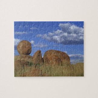 Australia, Devil's Marbles. Spherical sandstone Jigsaw Puzzle