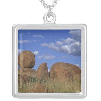 Australia, Devil's Marbles. Spherical sandstone Square Pendant Necklace