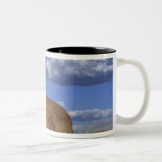 Australia, Devil's Marbles. Spherical sandstone Two-Tone Coffee Mug