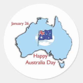 Australia día 26 de enero pegatina redonda