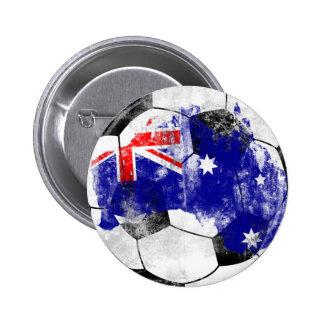 Australia Distressed Soccer Button