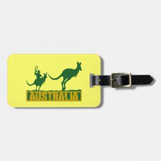 Australia divertida etiqueta para equipaje