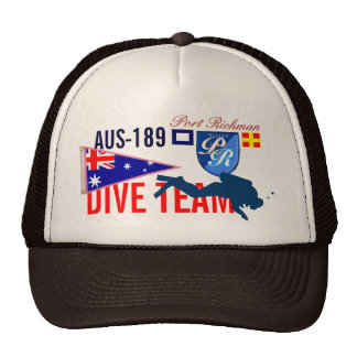 Australia Diving Dive Team CAN-189 Nautical Trucker Hat