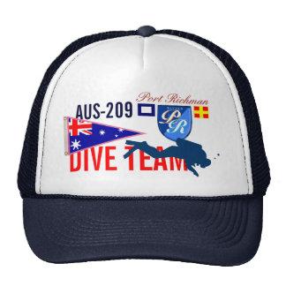 Australia Diving Dive Team Nautical Trucker Hat