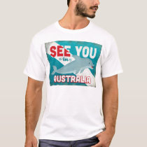 Australia Dolphin - Retro Vintage Travel