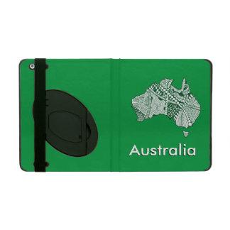 Australia Doodle Map Art Souvenir iPad Cases