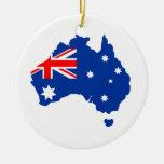 Australia Double-Sided Ceramic Round Christmas Ornament