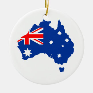 Australia Double-Sided Ceramic Round Christmas Ornament