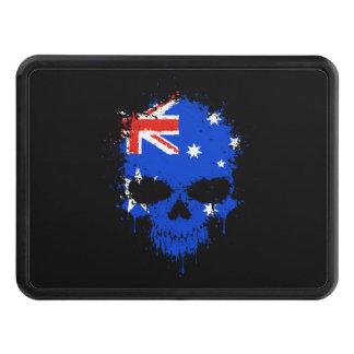 Australia Dripping Splatter Skull Hitch Cover