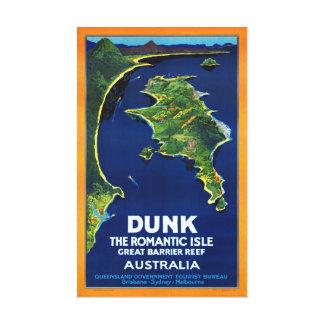 Australia Dunk Restored Vintage Travel Poster Canvas Print