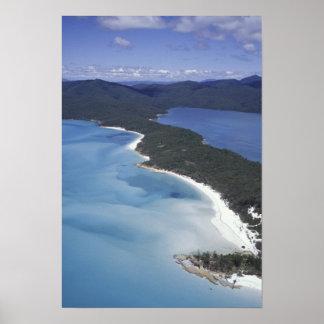 Australia, el Whitsundys, Queensland. Colina Póster