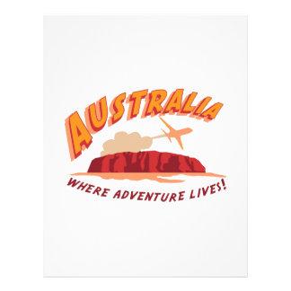 ¡Australia en donde vive la aventura! Plantilla De Membrete