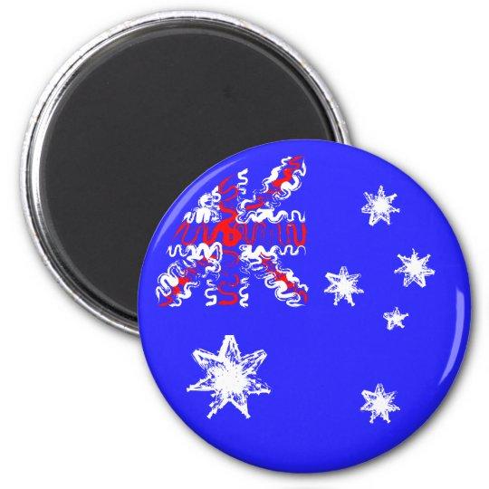 Australia en el imán azul