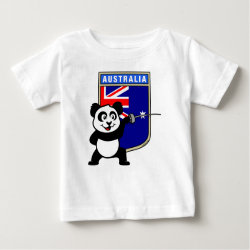 Baby Fine Jersey T-Shirt with Australian Fencing Panda design