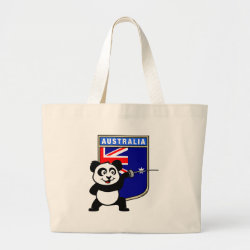 Jumbo Tote Bag with Australian Fencing Panda design