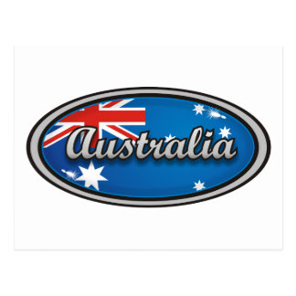 Australia flag 1 postcard