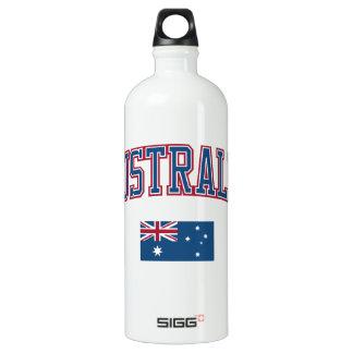 Australia + Flag Aluminum Water Bottle