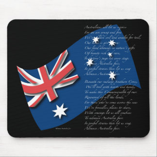 Australia Flag and Anthem2 Mouse Pads