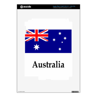 Australia Flag And Name Decal For iPad 3