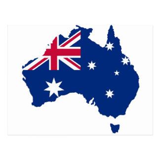 Australia flag Australia styles Design Postcard