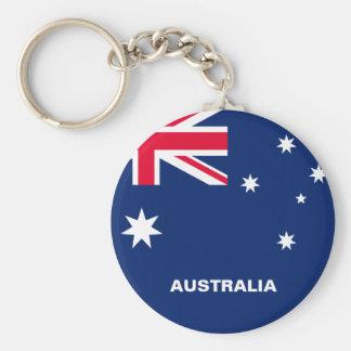 Australia Flag Button Keychain