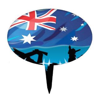 australia flag cake picks