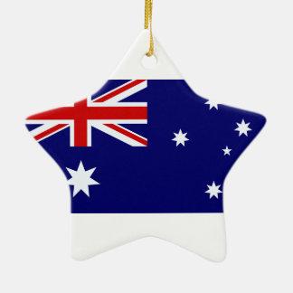Australia flag ceramic ornament