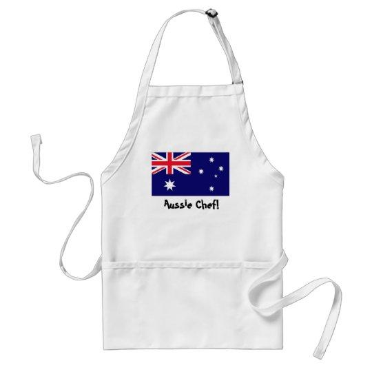 Australia flag chef apron