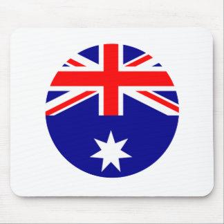 Australia Flag - Circle The MUSEUM Zazzle Mouse Pad