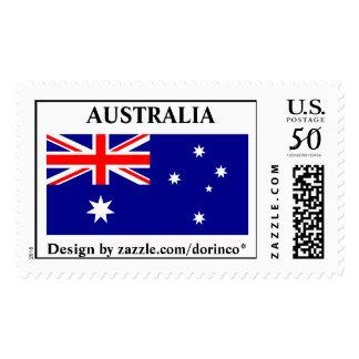 Australia flag  - correct aspect ratio 1:2 postage