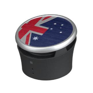Australia Flag Design in Carbon Fiber Chrome Decor Bluetooth Speaker