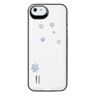 Australia Flag Design in Carbon Fiber Chrome Style Uncommon Power Gallery™ iPhone 5 Battery Case