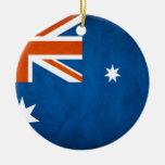 Australia Flag Double-Sided Ceramic Round Christmas Ornament