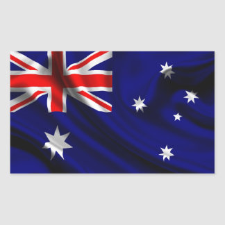 Australia Flag Fabric Rectangle Sticker